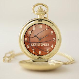 Reloj De Bolsillo Baloncesto personalizado con retro conocido