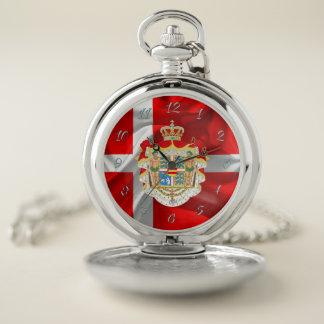 Reloj De Bolsillo Bandera-Capa danesa de brazos