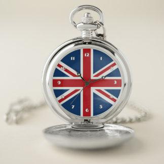 Reloj De Bolsillo Bandera clásica de Union Jack Reino Unido