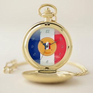 Reloj De Bolsillo Bandera francesa