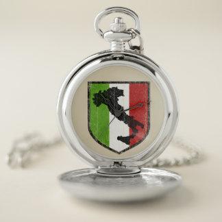 Reloj De Bolsillo Bandera italiana Pocketwatch