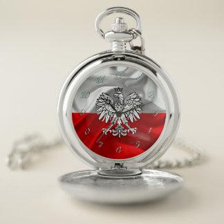 Reloj De Bolsillo Bandera polaca