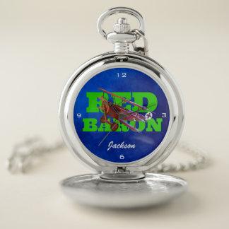 Reloj De Bolsillo Barón rojo personalizado Fokker