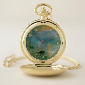 Reloj De Bolsillo Bella arte de la salida del sol de la impresión de