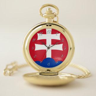 Reloj De Bolsillo Brazos eslovacos de la capa