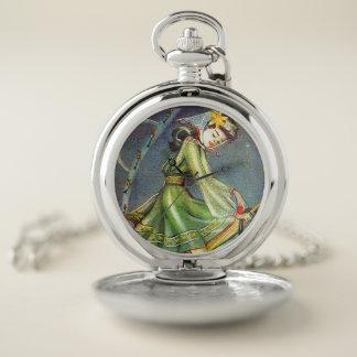 Reloj De Bolsillo Bruja de Falln Pascua