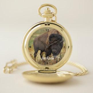 Reloj De Bolsillo Búfalo americano hermoso