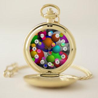 Reloj De Bolsillo Burbujas (chinas/japonés) por K Yoncich