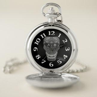 Reloj De Bolsillo Cabeza gris del cráneo del bacalao