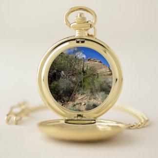 Reloj De Bolsillo Cactus del Saguaro