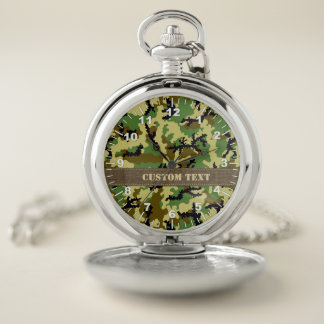 Reloj De Bolsillo Camuflaje del arbolado
