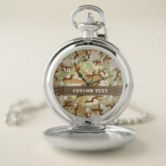 Reloj De Bolsillo Camuflaje del desierto