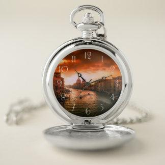 Reloj De Bolsillo Canal histórico hermoso de Venecia, Italia