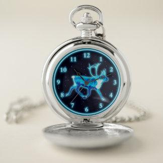 Reloj De Bolsillo Caribú azul (reno)