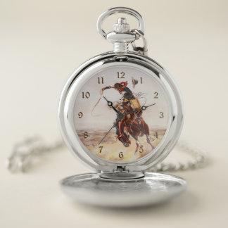 Reloj De Bolsillo Charles Russell un mún Hoss