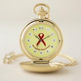 Reloj De Bolsillo Cinta estándar de Borgoña (CHN/JPf) por K Yoncich