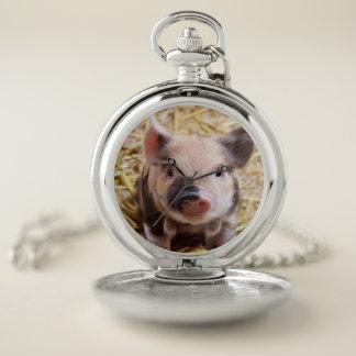 Reloj De Bolsillo cochinillo dulce