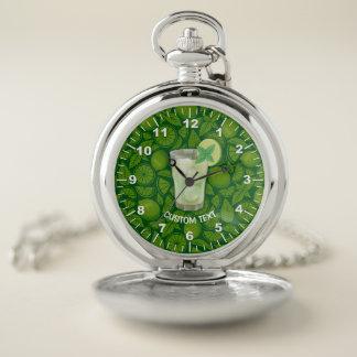 Reloj De Bolsillo Cóctel de Mojito
