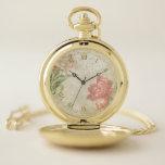 Reloj De Bolsillo Collage floral del Victorian sucio