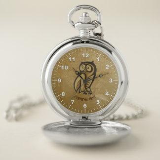 Reloj De Bolsillo Color del símbolo del búho