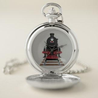 Reloj De Bolsillo Conductores locomotores del motor del tren del