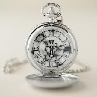 Reloj de bolsillo cruzado de mármol