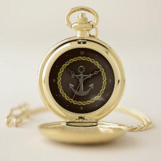 Reloj De Bolsillo Cuerda y ancla