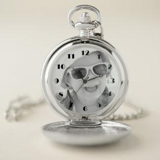Reloj de bolsillo de encargo de la foto