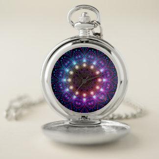 Reloj de bolsillo de la mandala de las luces de