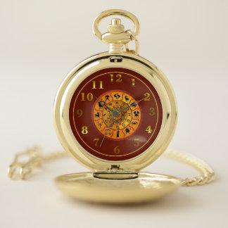 Reloj de bolsillo de la mezcla de la astrología