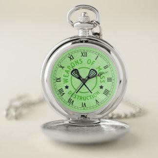Reloj de bolsillo de LaCrosse, armas de