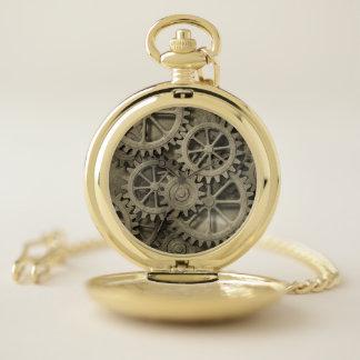 Reloj de bolsillo de las ruedas dentadas de