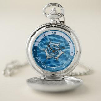 Reloj de bolsillo de los delfínes