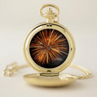 Reloj de bolsillo de los fuegos artificiales