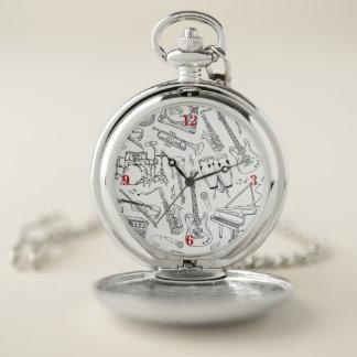 Reloj de bolsillo de los instrumentos musicales