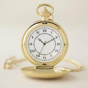 Reloj de bolsillo de los números romanos
