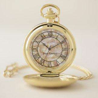 Reloj de bolsillo de mármol elegante de la firma