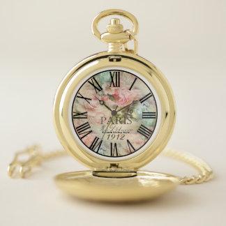 reloj de bolsillo de París del vintage
