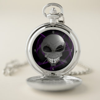 Reloj de bolsillo de plata extranjero gris