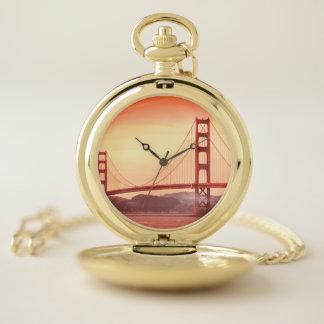Reloj de bolsillo de puente Golden Gate