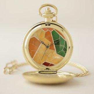 Reloj De Bolsillo Decoración del mosaico