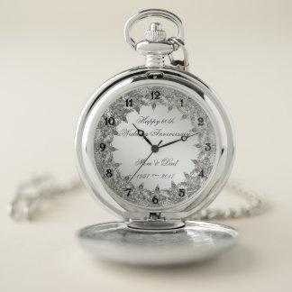 Reloj de bolsillo del aniversario del diamante
