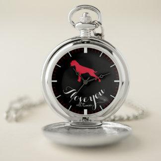 Reloj De Bolsillo Del boxeador del perro rojo alemán elegante