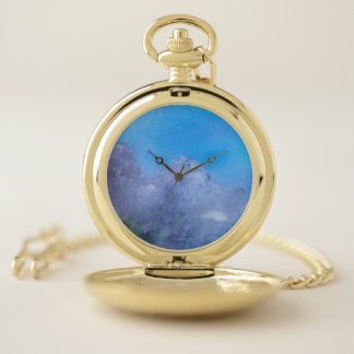Reloj de bolsillo del cielo azul