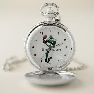 Reloj de bolsillo del diseño del fútbol