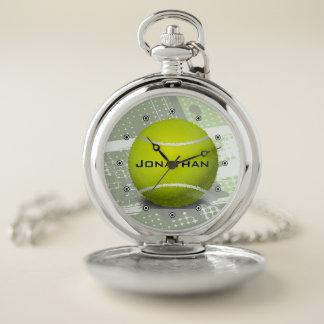 Reloj de bolsillo del diseño del tenis