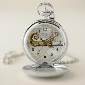 Reloj de bolsillo del lagarto