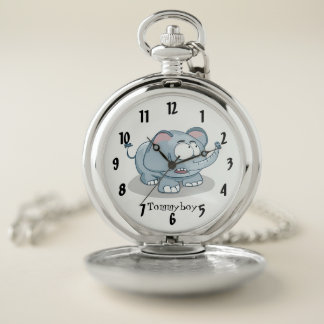 Reloj de bolsillo del monograma del diseño del
