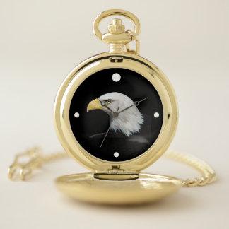 Reloj de bolsillo del oro con Eagle