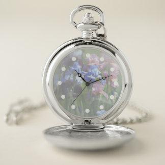 Reloj de bolsillo del tono plateado del jardín del
